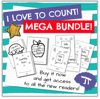 I LOVE TO COUNT Emergent Readers MEGA BUNDLE