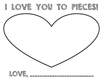picture regarding I Love You to Pieces Printable titled I Get pleasure from Oneself Toward Parts Printable Worksheets Academics Shell out