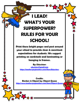 iLead. What's Your Superpower? School Rules and Student Jo
