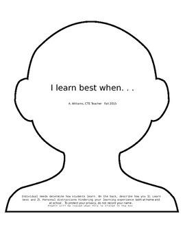 I Learn Best When. . .