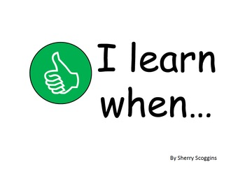 Social Story - I Learn When...
