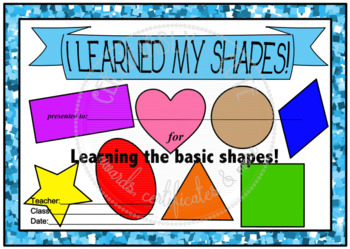 I Learned My Shapes!