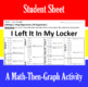 I Left It In My Locker - A Math-Then-Graph Activity - Solve 2-Step Equations