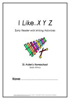 I Like A - I Like Z Early Reader with Writing Activities