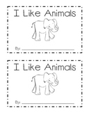 I Like Animals Emergent Reader