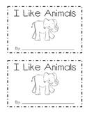 I Like Animals Emergent Reader