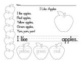 I Like Apples Page
