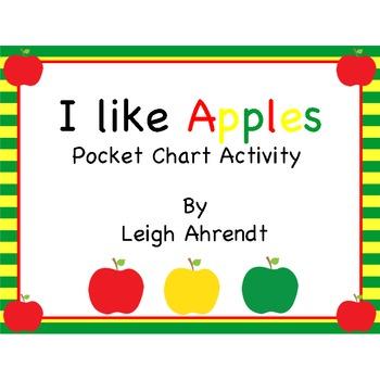 I Like Apples Pocket Chart Center