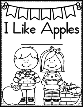 I Like Apples (Pocket Chart & Matching Predictable Cut and Glue Book)