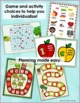 Adapted Book for Preschool: Apples Describing and Sorting Activities