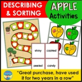 Fall Apple Themed Picture Activities and Games for Mixed Groups