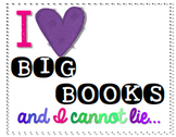 """I Like Big Books"" FREEBIE poster and labels"