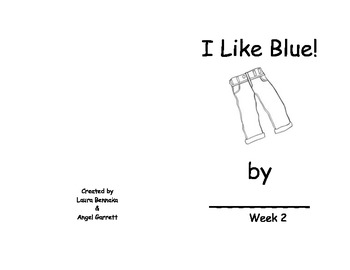 I Like Blue Sight Word Book- Week 2