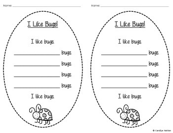 I Like Bugs! - Bug Poem Template