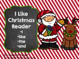 I Like Christmas sight word reader