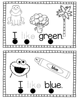 I Like Colors Emergent Reader