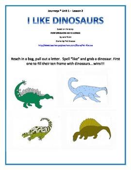 Sight word: like  I Like Dinosaurs