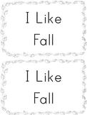 I Like Fall Mini book