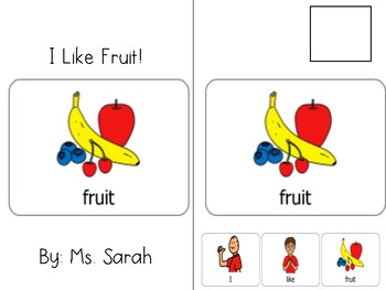 I Like Fruit Adapted Book