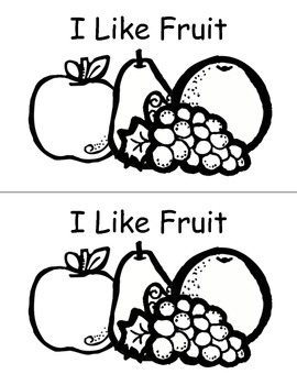 I Like Fruit Emergent Reader