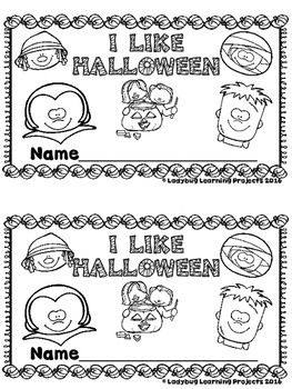 I Like Halloween  (A Sight Word Emergent Reader and Teacher Lap Book)