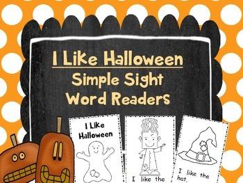 I Like Halloween Simple Sight Word Readers