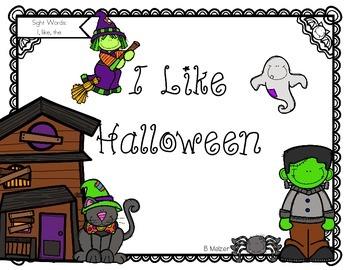 I Like Halloween Student and Teacher Reader