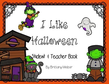 I Like Halloween Student and Teacher Reader