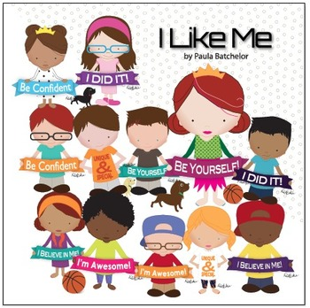 """""""I Like Me"""" - Confident Kids - Digital Clip Art and Printable Posters"""