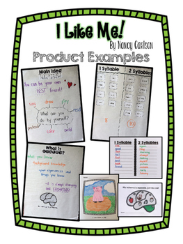 I Like Me! by Nancy Carlson Kindergarten Book Study *Good for Back to School