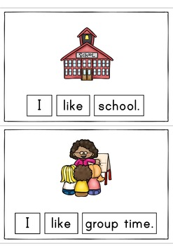 I Like School Easy Reader Patterned Sentences for Beginning Readers