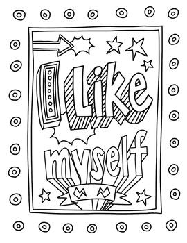 I Like Myself Coloring Page