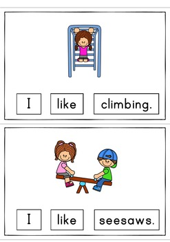 I Like Playing Easy Reader Patterned Sentences for Beginning Readers