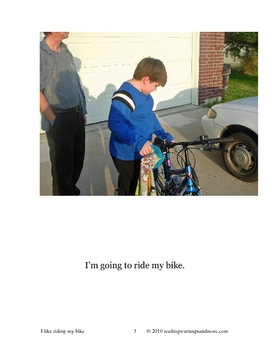 I Like Riding My Bike - Social Story Early Reader Picture Book