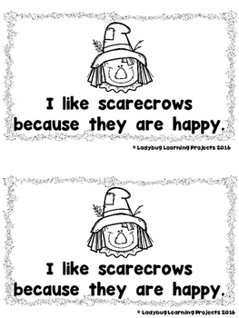 I Like Scarecrows  (A Sight Word Emergent Reader and Teacher Lap Book)