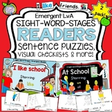 School theme Sight Word Emergent Readers and activities!