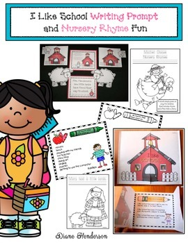 I Like School (Writing Prompt Craftivity) & Nursery Rhyme Fun
