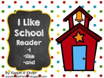 I Like School sight word reader