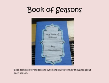 I Like Seasons Book Template