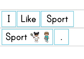 I Like Sports Easy Reader Patterned Sentences for Beginning Readers