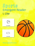I Like Sports Printable Emergent Reader Book for Young Readers