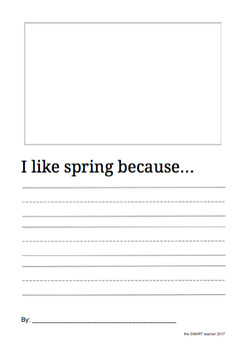 I Like Spring Because Writing Prompt