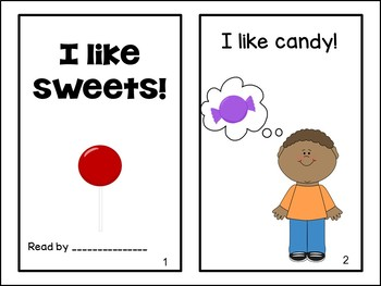I Like Sweets! Emergent Reader Book {Young Readers, ESL, EFL}