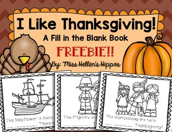 "Thanksgiving FREEBIE!  A ""Fill in the Sight Word"" Book"