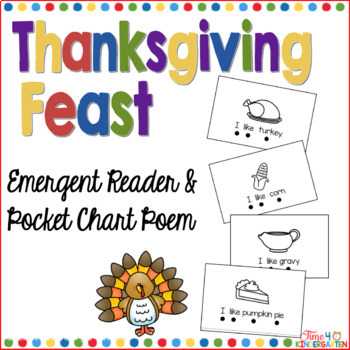 I Like Thanksgiving: Pocket Chart and Emergent Reader