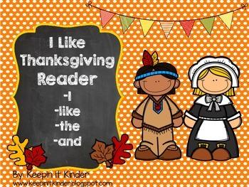 I Like Thanksgiving reader