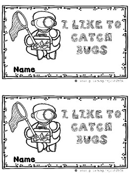I Like To Catch Bugs  (A Sight Word Emergent Reader and Teacher Lap Book)