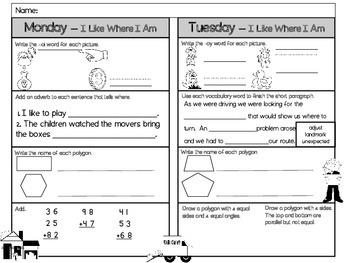 I Like Where I Am Homework - Scott Foresman 2nd Grade