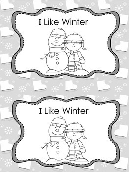 I Like Winter- Book