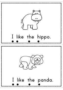 I Like Zoo Animals Easy Reader Patterned Sentences for Beginning Readers